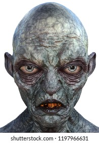 3d rendering monster portrait