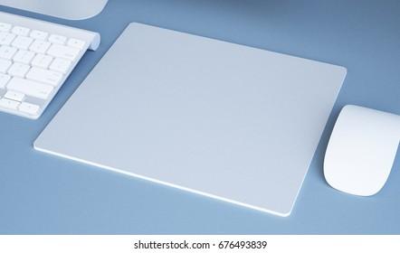 3d rendering of mousepad mockup