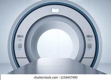 3D-Rendering-Mri-Scan-Maschine oder Magnetresonanztomographie