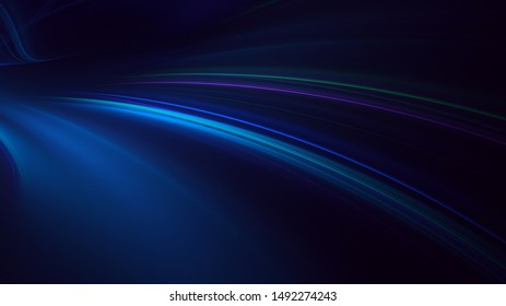 3D rendering multicolored abstract fractal on black background
