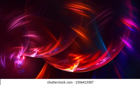 3D rendering multicolored abstract fractal