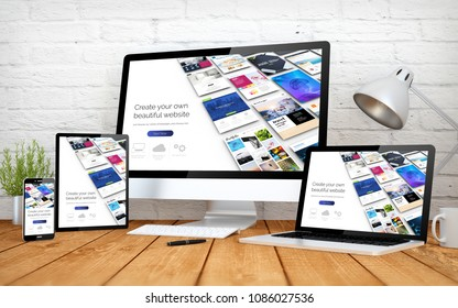 3d rendering with multidevices with website builder