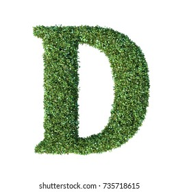 3d rendering of multiple plant alphabet