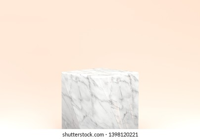 3d rendering. Natural beauty backdrop for cosmetic product display. fashion beauty pastel color background.