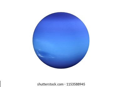 3d rendering  of Neptune planet and moon isolated on white