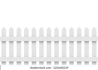 3d rendering. new gray wooden fence with clipping path isolated on white background.