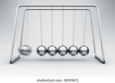 3d rendering of a Newtons cradle