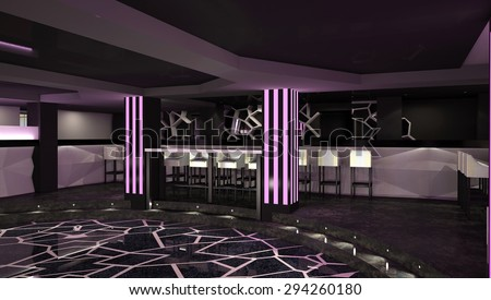 3d Rendering Of A Night Club Interior Design