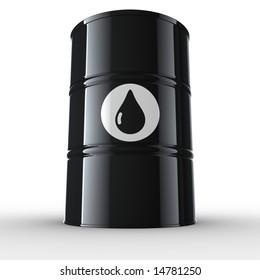 3d rendering of an oil drum