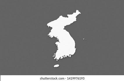 3d rendering of One Korean Peninsula
