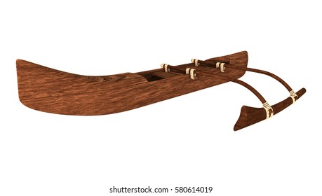 3D rendering of an outrigger isolated on white background