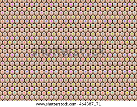 3 D Rendering Pattern Pile Tips Pencils Stock Illustration