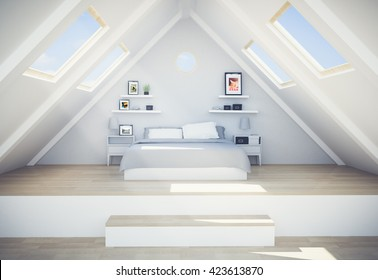 3d rendering of penthouse