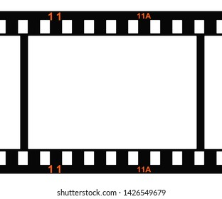 3d rendering of a photo film with orange frame numbers