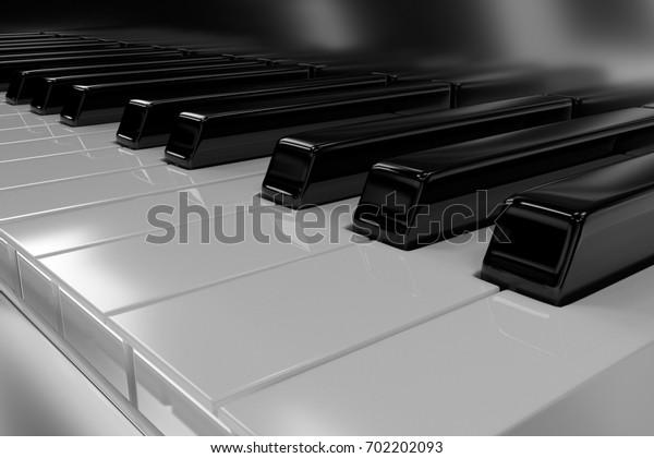 3D rendering. Piano.