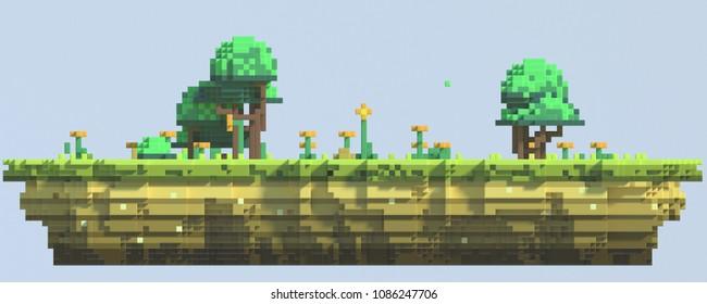 Imágenes Fotos De Stock Y Vectores Sobre 3d Pixel Game