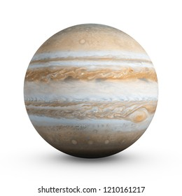 3D Rendering Planet Jupiter isolated on white