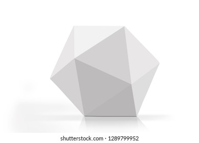 3D rendering of polygon paper carton isolated on white background
