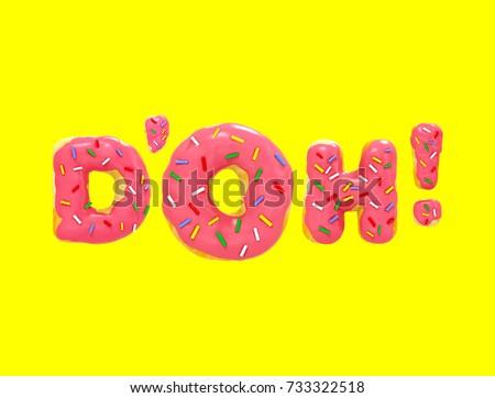 3d rendering Poster Doh