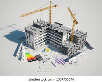 3D rendering  of a Real Estate and construction concept