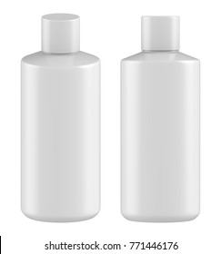 3D rendering Realistic mock up plastic bottle, plastic container for cream, body lotion, liquid gel, Cosmetic packaging on white background