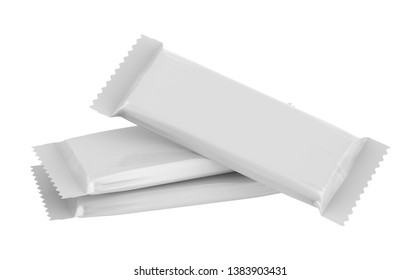 3d rendering realistic twin snack bar mockup isolate on white background