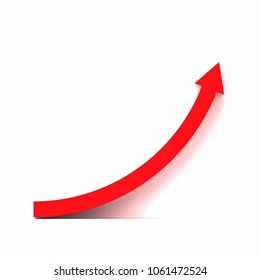 3d rendering of red growth curve