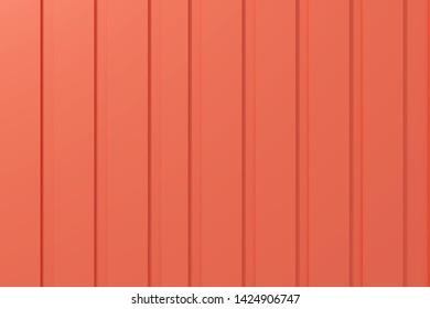 3d Rendering of red metal wall