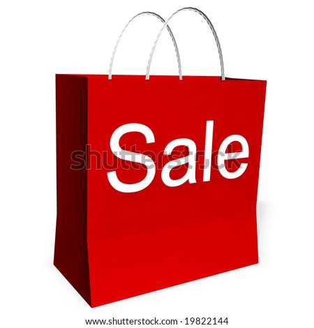 be8b4573b4b ... Stock Illustration 19822144 - Shutterstock. 3d rendering of a red  shopping bag with the word SALE.
