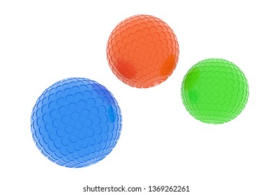 3d Rendering of rippled balls