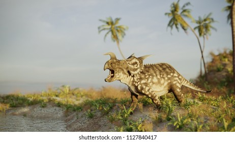 3d rendering of the roaring einiosaurus