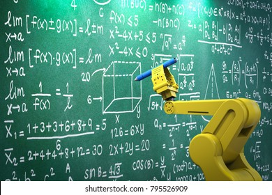 3d rendering robot arm learning or solving math formula
