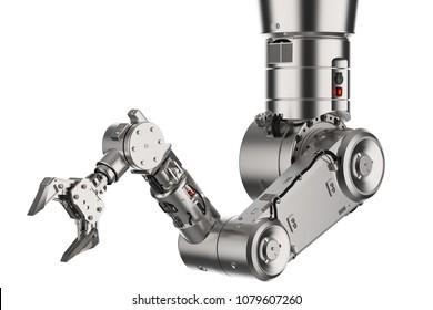 3D-Rendering-Roboter-Arm oder Roboter einzeln