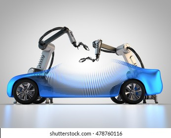 3D rendering: Robots in the automotive industry