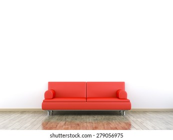 3d rendering of a room and a sofa with space for your content