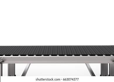 3d rendering rubber conveyor belt isolated on white