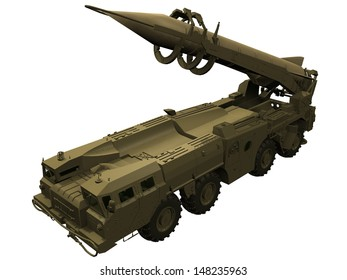 3d Rendering of a SCUD Missile launcher