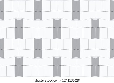 3d rendering. seamless modern flate trapezoid pattern wall background.