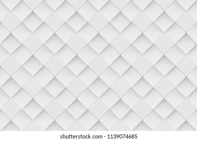3d rendering. seamless modern light gray square grid pattern wall background.