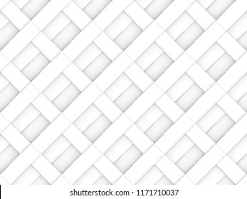 3d rendering. seamless modern luxurious diagonal white brick square pattern wall background.