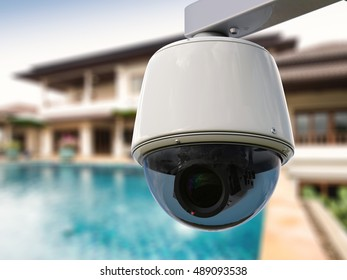 3d rendering security camera or cctv camera for house security