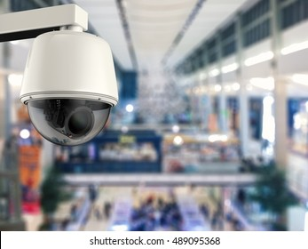 3d rendering security camera or cctv camera for public security
