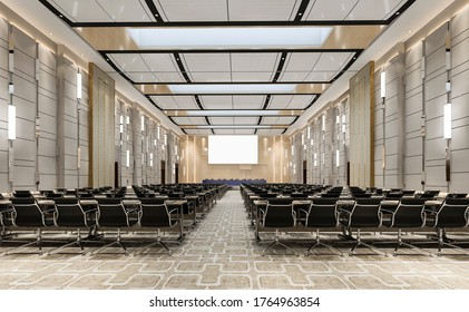 3d rendering seminar executive room in hotel