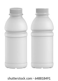 3D rendering Set of blank product plastic bottle for juice, Mock up isolated