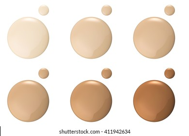 3d rendering shades of foundation