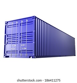 3d rendering of a shipping 40ft container