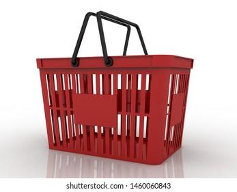3d rendering Shopping items Basket