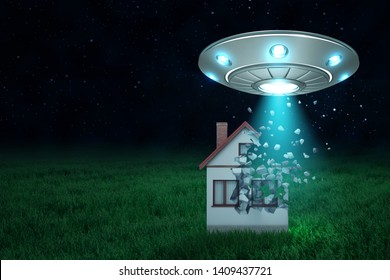 Ufo House Images, Stock Photos & Vectors | Shutterstock