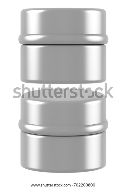 3D rendering silver plastic cosmetic jar for cream, butter, scrub, gel, powder, wax. Realistic packaging mock up template