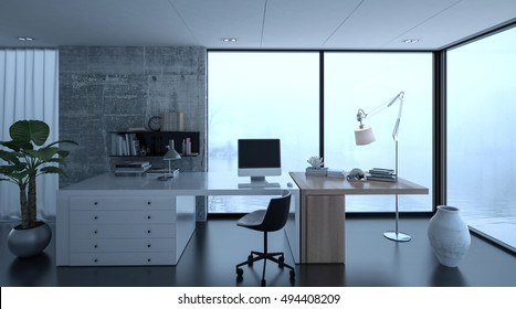 Imagenes Fotos De Stock Y Vectores Sobre 3d Home Office Desk